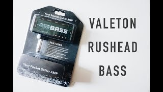 VALETON RUSHEAD BASS - latihan bass dimana aja tanpa ampli!