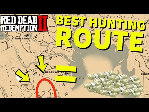BEST Hunting Route Location In Red Dead Online| RDR2 Online Hunting Spawn Spots, Farm Money