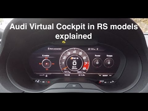 Audi Virtual Cockpit In RS Models Explained