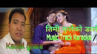 तिमी फुलको डाली.. || New nepali music track karaoke || kamal ghale