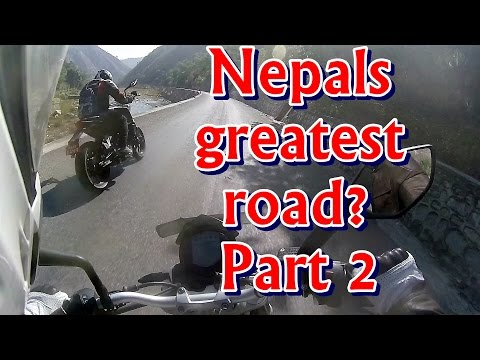 KTM Duke Flat out on the BP Highway, Nepal - Part 2