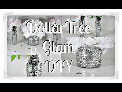 Dollar Tree DIY ||Romantic Glam Table Centerpiece Idea