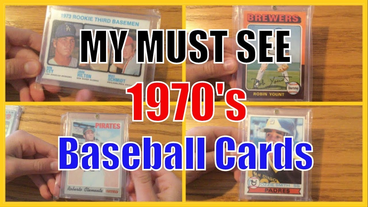 My Amazing 1970s Vintage Baseball Card Collection Hank Aaron Roberto Clemente George Brett