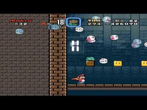 Super Mario World Donut Ghost House 1 Exit 2 + Top Secret Area