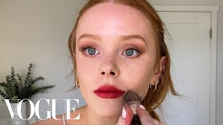 Abigail Cowen's Effortless Red Lip & Guide to Red Haired Beauty | Beauty Secrets | Vogue