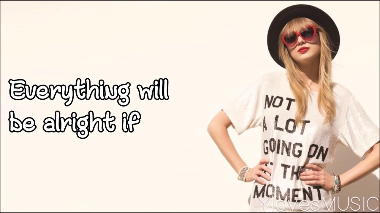 Taylor Swift 22 Lyrics Youtube