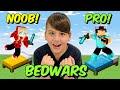 NOOB VS PRO BEDWARS ΤΡΟΛΑΡΩ ΤΟ NOOBAKI Minecraft Famous Games @Let's Play Kristina