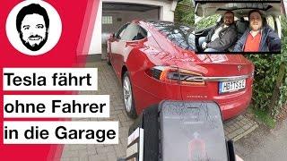 Tesla fährt ohne Fahrer in die Garage! Kindersitze erklärt- 007 Modus gezeigt!
