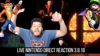Nintendo Direct 3.8.2018 | LIVE Reaction!!