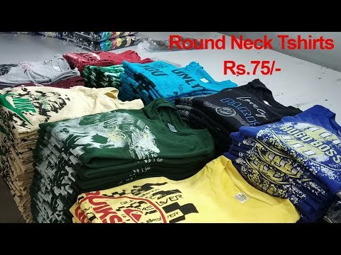 Tirupur Round Neck printed tshirts Manufacturer | Good design tshirts for retail and wholesale