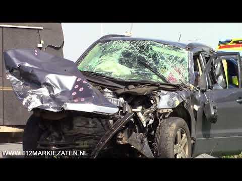 Drie gewonden bij aanrijding op de N59 afslag Sint Philipsland