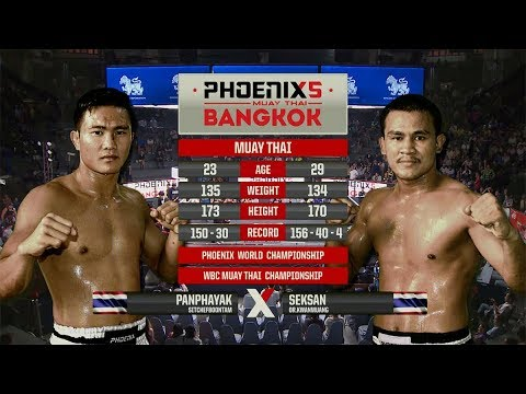 Panphayak Sitchefboontam Vs Seksan Or. Kwanmuang - Full Fight (Muay Thai) - Phoenix 5 Bangkok