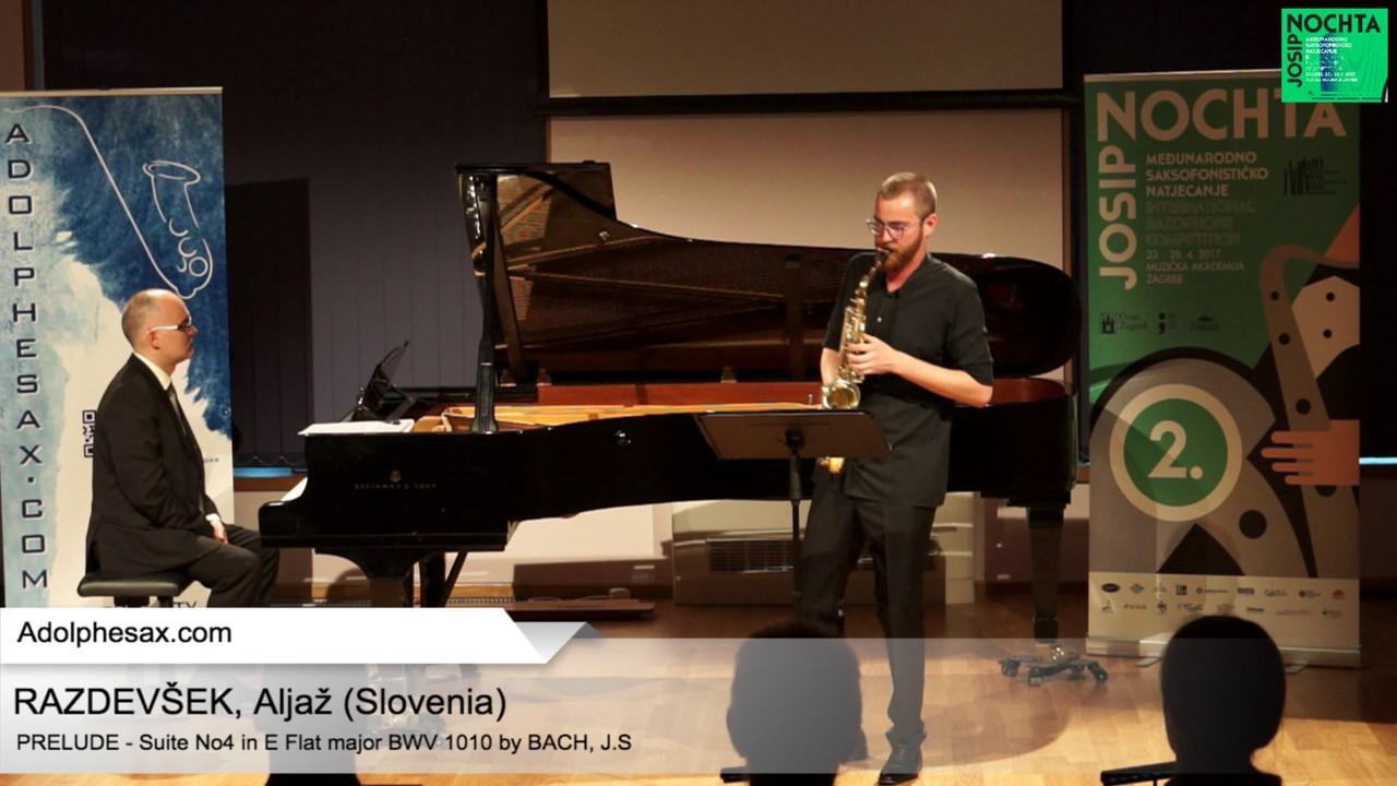 Johann Sebastian Bach -Suite No 4 in E  at major BWV 1010 – Pre?lude – RAZDEVS?EK, Aljaz? (Slovenia)
