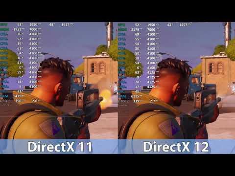 Fortnite DirectX 11 Vs DirectX 12 Comparison NVIDIA