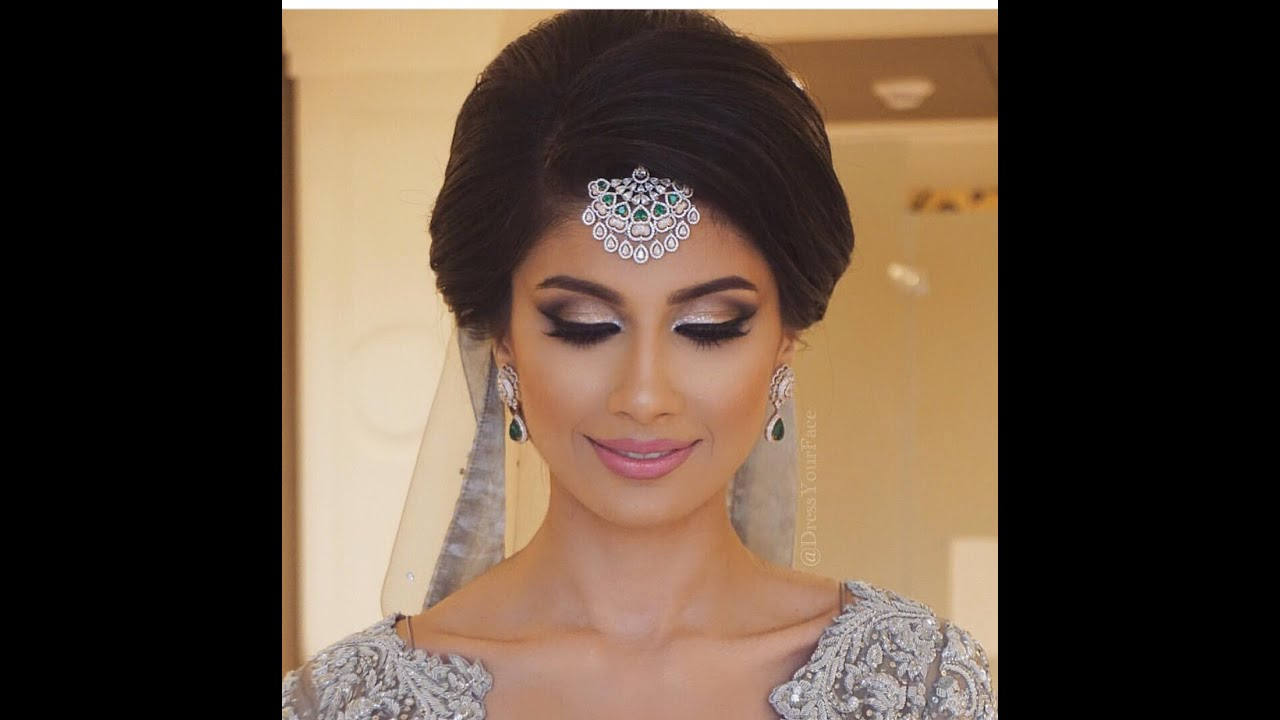 classic indian bridal updo