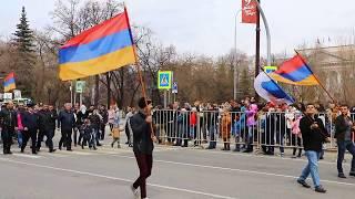Парад Победы 9 мая Тюмень - Армянская диаспора