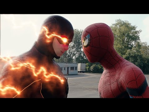 Spider-man: Homecoming Trailer Spider-man vs The Flash FIGHT SCENE | Marvel vs DC 2017