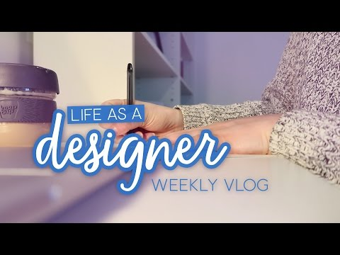 Weekly vlog: Bullet journaling, record shopping & working from home | Life as a Designer