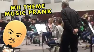 BAND PRANKS DIRECTOR WITH MII CHANNEL THEME MUSIC!