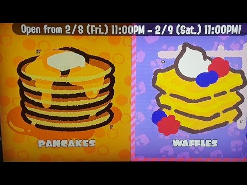 Splatoon 2 Splatfest Pancakes vs Waffles Team Waffles FTW