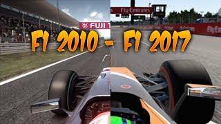 F1 Games Comparison (F1 2010 - F1 2017, SUZUKA JAPAN) Evolution of F1 games by Codemasters!