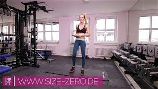Rücken-Übungen für einen aufrechten Gang - Training für Frauen | www.size-zero.de