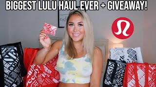 *huge* Lululemon Try-on Haul + Lululemon Giveaway! || New At Lululemon *summer 2020*  Open