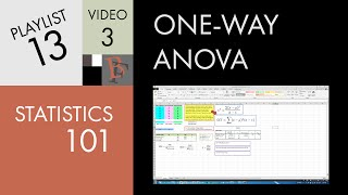 Statistics 101: One-way ANOVA (Part 2), Understanding the Calculation
