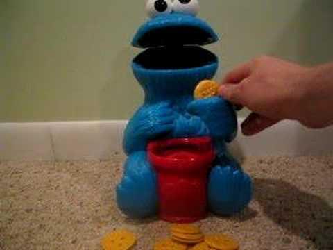 Cookie Monster Talking Cookie Jar Youtube