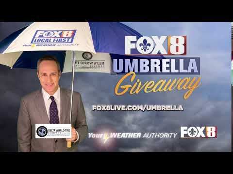 Fox 8 Umbrella Giveaway :10 Sponsored by Delta World Tire