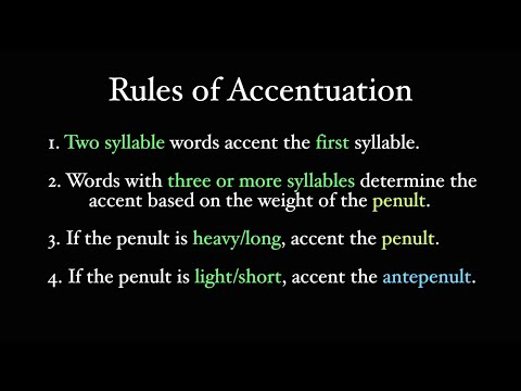 The Latin Accent