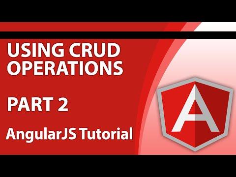 Angular Tutorials for Beginners - Part 7 - How to Use AngularJS to Create, Update and Delete Data