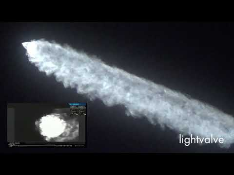 Spectacular SpaceX Iridium Satellite Launch December 22, 2017