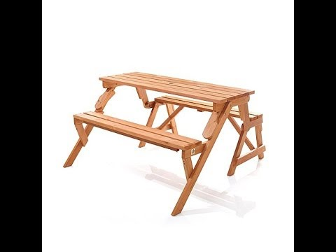 HGTV HOME In Convertible Park Bench And Picnic Table YouTube - Park bench and table