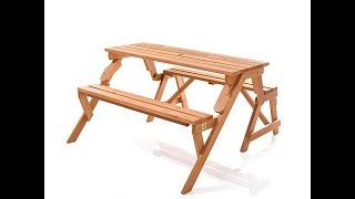 HGTV HOME 2in1 Convertible Park Bench and Picnic Table