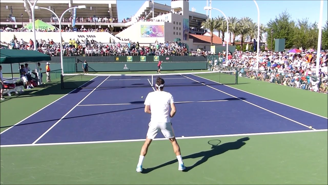 Roger Federer Practice – Court Level View – ATP Tennis