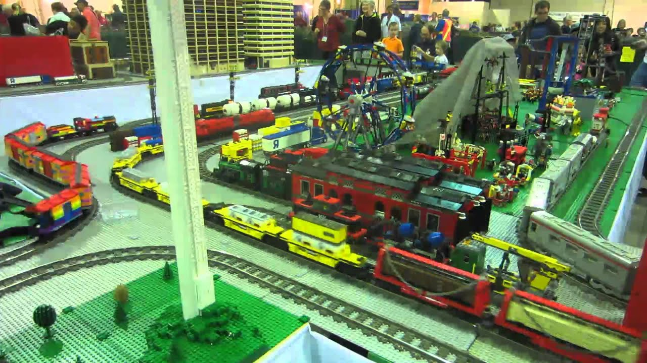 nalug 39 s lego train display great edmonton train show 2012 youtube. Black Bedroom Furniture Sets. Home Design Ideas