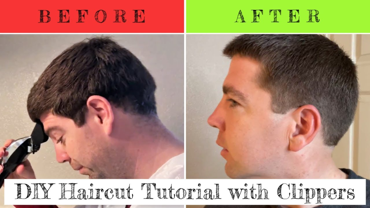 How To Cut Your Own Hair With Clippers For Men Youtube