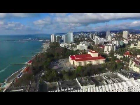 Полёт над Сочи. Январь 2016. !Видео не МОЁ!