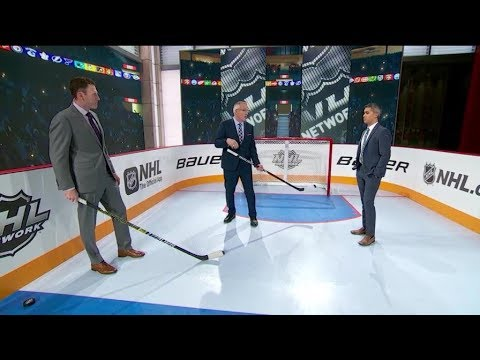 NHL Now:  Point Shot Rink Demo:  Whitney And Reid Show How Defensemen Get Pucks Deep  May 1,  2019