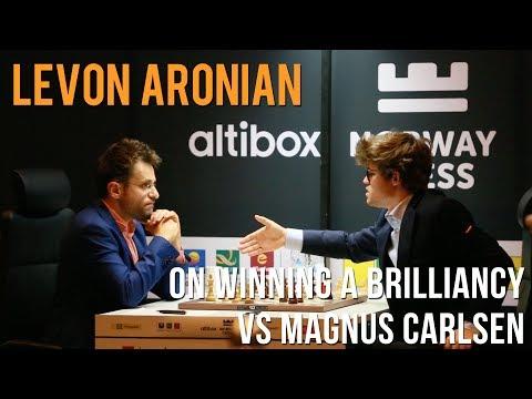 Levon Aronian on winning a brilliancy vs Magnus Carlsen