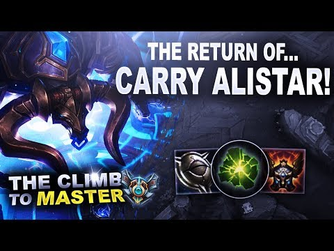 RETURN OF CARRY ALISTAR! Exclusive Emote Giveaway! Climb To Master | League Of Legends