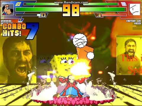 MUGEN Battle #1416: Underdog & Spongebob Vs Cartoon Guy & Roger