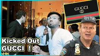PRETENDING TO WORK AT GUCCI STORE Prank **Got Kicked Out**
