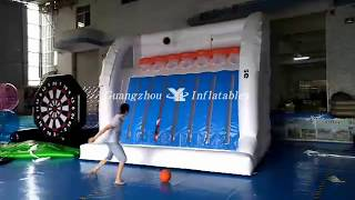 Great Fun Basketball Connect 4 Hoop Games Inflatable, Basketball Compete Games