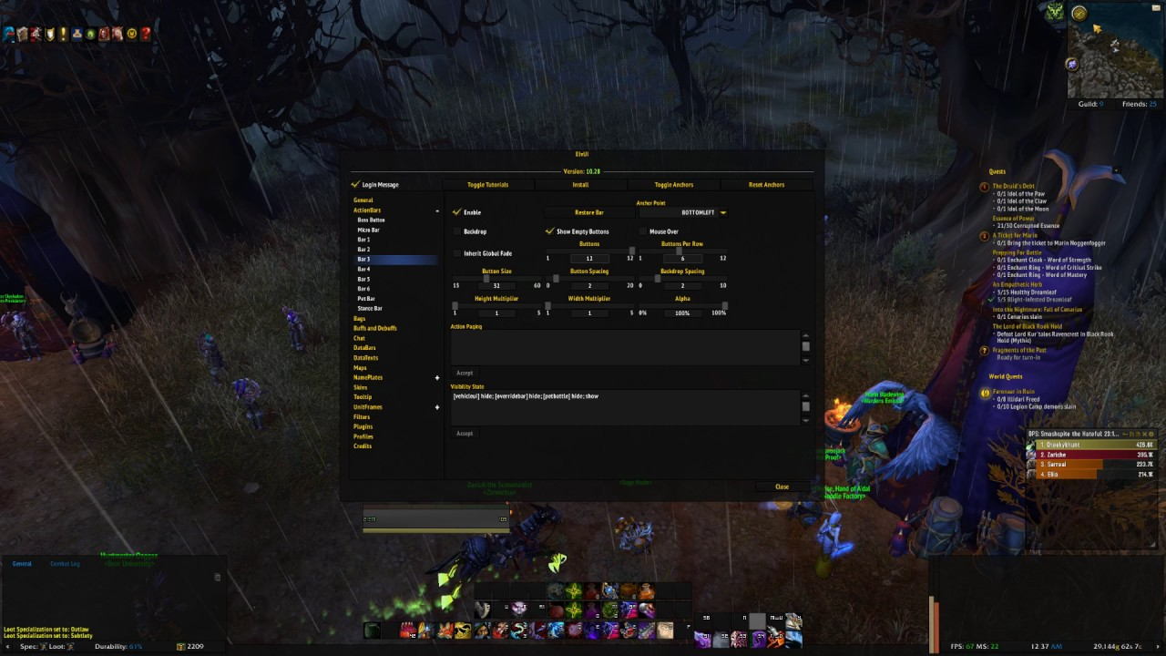My ElvUI Profile + Guide *Wow Legion 7 1* by oxandrolone