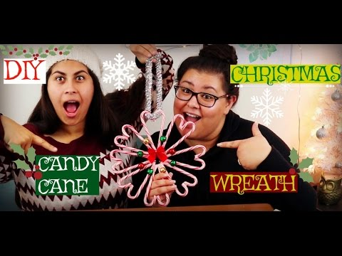 DIY Candy Cane Christmas Wreath Feat. Antoinette!