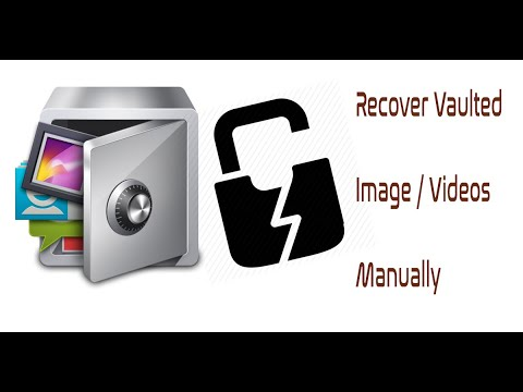 How to recover the photos / Videos in Applock vault in an Android mobile