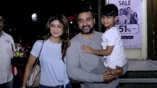Shilpa Shetty And Husband Raj Kundra With Son Viaan Spotted Post Movie Show