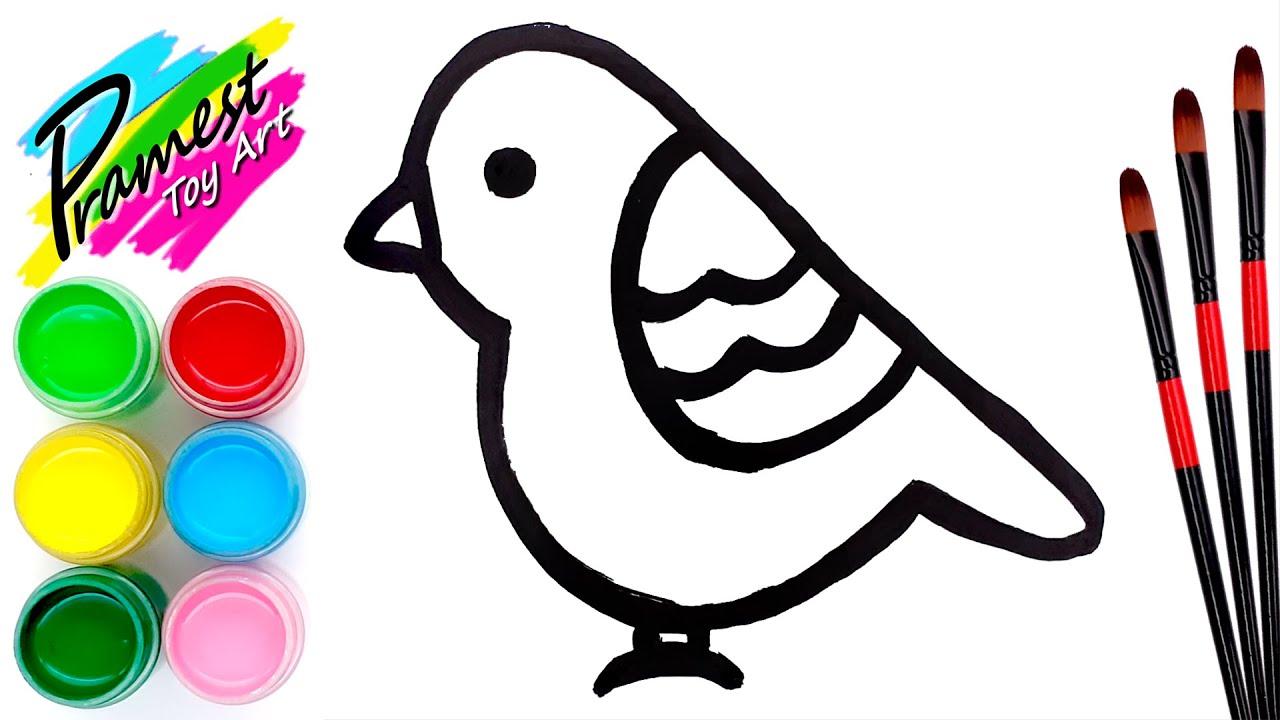 Belajar menggambar dan mewarnai Burung Warna Warni untuk ...